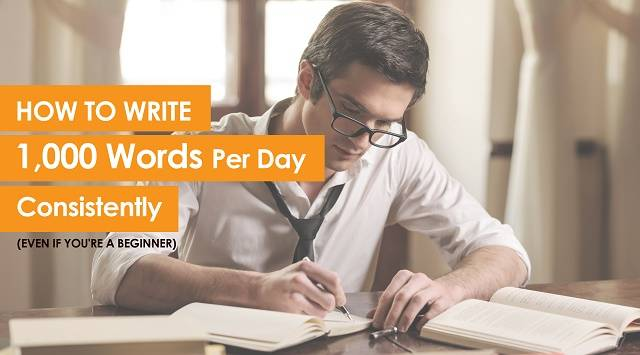 How To Write 1000 Words A Day Just Like That